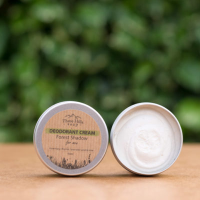 Natural Deodorant cream for men Three Hills Soap