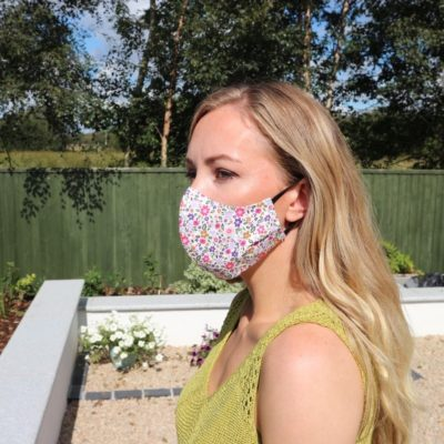 Reusable Face Mask Handmade in Ireland Floral Print