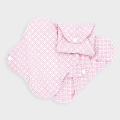 ImseVimse Washable Panty Liners Pink Pattern